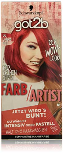 Got2B 092Lollipop Artist colore dei capelli di colore rosso, confezione da (3X 80ML)