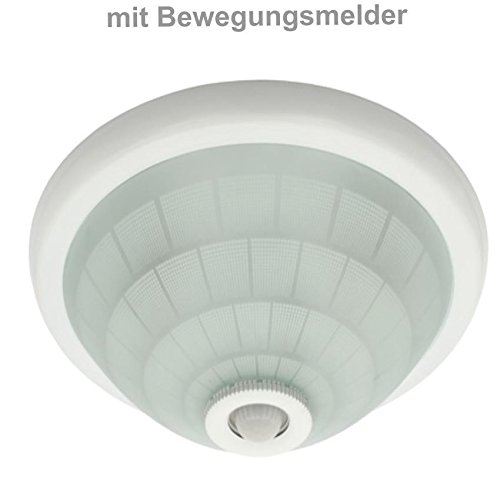 Deckenleuchte mit Bewegungsmelder Deckenlampe Deckenleuchte Ø30cm - Globe Deckenleuchte