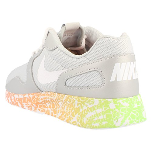 Nike Kaishi Run Print, Chaussures de Running Femme BLANC/MTLC PLATINIUM