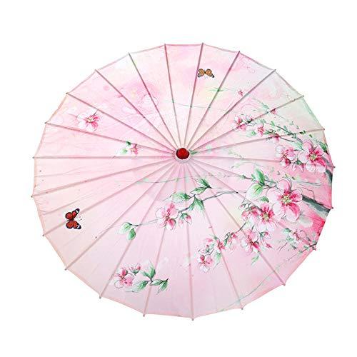 Foto props per feste e compleanni ombrello resistente cinese colorato in carta cerata con decorazione artistica a olio parasole tradizionale per foto