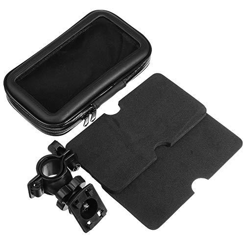 Preisvergleich Produktbild iUcar Fahrrad Motorrad Lenkerhalterung Wasserdichte Handyhalterung für 5-Zoll-GPS - schwarz