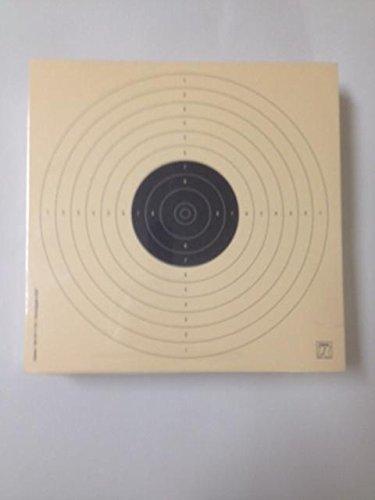 Klamer Paquete de 100 dianas de Tiro Olímpico de la modalidad de Precisión Pistola Aire 10 Metros, tamaño 17 * 17 Cm, ISSF, Fabricadas en cartulina Papel Col de 200 grs, Color Teja, antirreflejos.