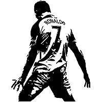 ASENER Cristiano Ronaldo Portugal Vs Spanien CR7 Ziel Feier Logo Wandtattoos, Fußball Fans Dekor Aufkleber, Ronaldo Unterzeichnet Montiert Kunstdruck Poster