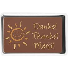 Schokoladen Täfelchen Danke, 36 Stück je 10g, Größe: 55x33 mm