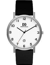 Diseño de danesa para hombre reloj infantil de cuarzo con esfera analógica  blanca y negro correa 0393387fd47