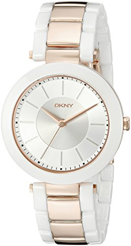 DKNY NY2290 LADIES MULTICOLOR CERAMIC 37MM STAINLESS STEEL CASE QUARTZ WATCH