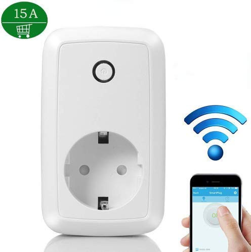 WiFi Smart Plug Timer Presa15A Casa Outlet Intelligente Switch Wireless Timer Telecomando Programmabile Interruttore Elettrico con Funzione di Temporizzazione per Apple iPhone e Dispositivi Android