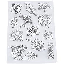 Stempel Set, HENGSONG Transparent Kreativ Baum Blätter Muster Gummi Stempel DIY Album Craft Scrapbooking Dekoration
