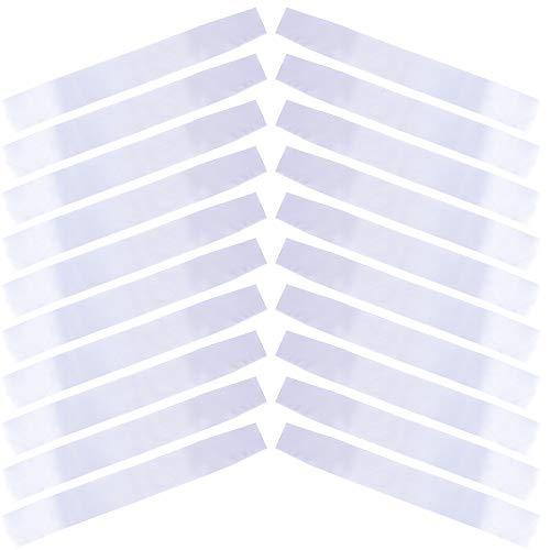 20pcs Fajines Bandas Blancas Satén Disfraces