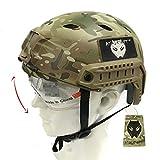 Emerson SWAT Combat-Casco con occhiali, per Airsoft e Paintball, Multicam MC