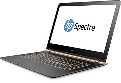 HP Spectre (13-v101ng) 33,8 cm (13,3 Zoll / Full HD IPS) Laptop (Ultrabook mit: Intel Core i5-7200U, 256 GB SSD, 8 GB RAM, Intel HD Graphics, Windows 10 Home) grau/kupfer (Bluetooth-adapter Hp)
