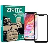 ZIVITE 9H Hardness || Edge to Edge || Full Gum || Full Glue || Gorilla Tempered Glass Guard for Nokia 8.1 - Black