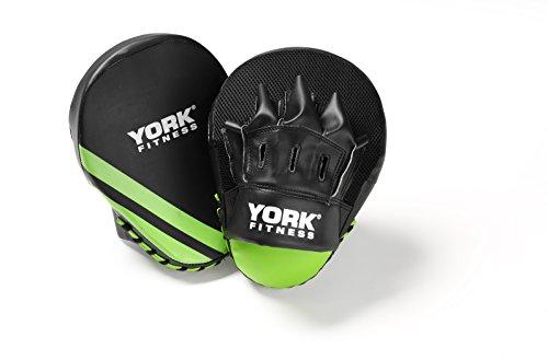 York Fitness Boxpratzen, gewölbtes Design, Schwarz / Grün, 280g
