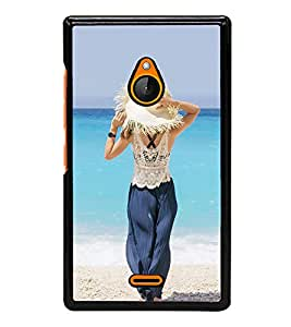 PrintVisa Sexy Lady High Gloss Designer Back Case Cover for Microsoft Lumia 540 Dual SIM