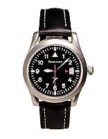 Messerschmitt ME 40 Day - Reloj para hombres, correa de cuero de Messerschmitt
