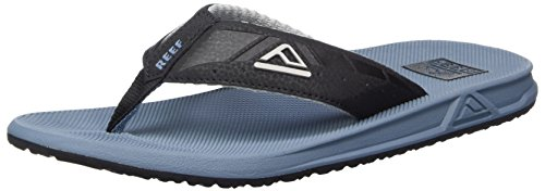 Reef - Phantoms, Flip-flop Uomo Blu (Black & Steel Blue)