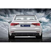 JMS Race Look Trasero difusor para Audi A4 B9 sin S de Line Exterieur
