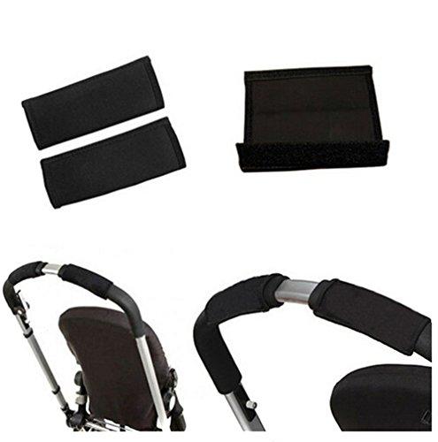 odn-baby-black-pram-stroller-carriage-front-handle-neoprene-magic-tape-bumper-bar-cover