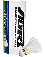 Silver's Marvel Feather Shuttlecock, Pack of 3 (White)