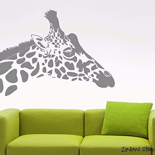 kleber Tier Vinyl Aufkleber Wohnzimmer Dekor Wanddekoration Wasserdichte Wand Tattoo Wandhauptdekor grau 56x73 cm ()