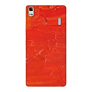 Stylish Orange Paint Texture Back Case Cover for Lenovo K3 Note