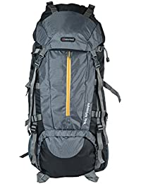 Indian Riders 75L Front Open Model Hiking Trekking Camping Rucksack Bags-Grey & Black-(IRRB-010)