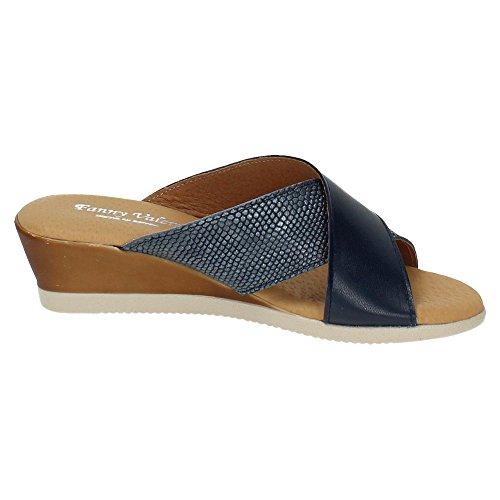 ZAPATOP Donna sandali Blu