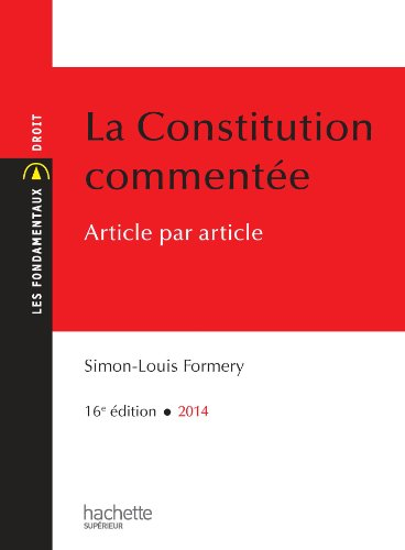 La Constitution commente article par article