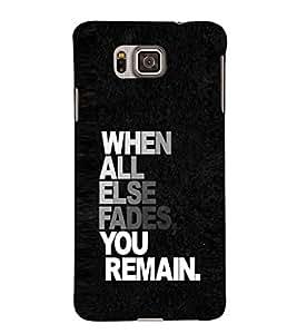 EPICCASE You Remain Mobile Back Case Cover For Samsung Galaxy Alpha (Designer Case)