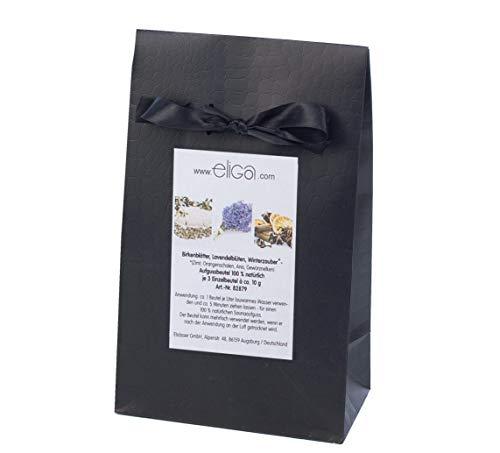 eliga Aufgussbeutel - gemischt je 3 Beutel Birkenblätter, Lavendelblüten und Winterzauber, 1er Pack (1 x 9 Stück)
