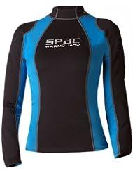 Seac WARM GUARD LONG -Neopreno de buceo de snorkel y surf para mujer, color negro y azul, tamaño XL