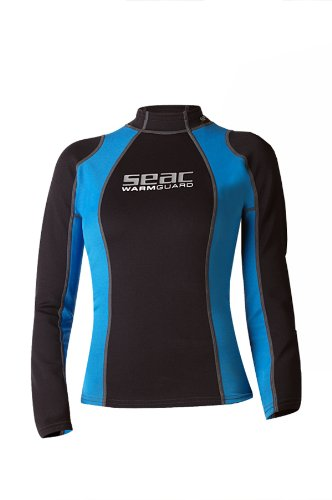 Seac Damen Warm Long Lady Thermo-schutzweste Aus 5mm Neopren, Rash Guard Zum Schnorcheln Und Schwimmen Als Uv-Schutz, schwarz/Blau, XL