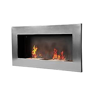 Dieser Edelstahl Biokamin brennt mit 2 voneinander getrennten Flammen! Der Bioethanol Kamin ist die ideale Alternative für jeden Kaminliebhaber, der in seinem Zuhause, seinem Büro oder seiner Ferienwohnung über keinen Schornstein verfügt. Der Biok...
