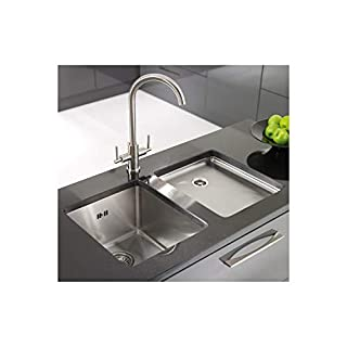 Astracast OXL1X BHOMEPK Top-Mount Kitchen Sink Square Stainless Steel Sink-Kitchen Sinks (Top-Mount Kitchen Sink, Square, Stainless Steel, Stainless Steel, 1Bowls, Square)