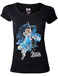 The Legend of Zelda Breath Of The Wild - Link With Arrow Camiseta Mujer  Negro c0b2de930eb