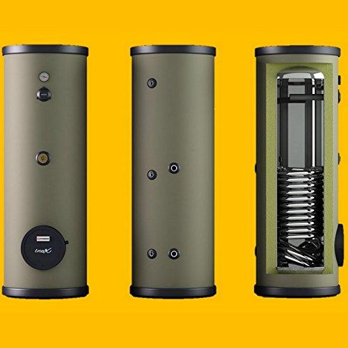 120 160 200 300 400 L Liter EDELSTAHL Speicher - Trinkwasserspeicher mit 1 Wärmetauscher - Boiler Warmwasserspeicher Standspeicher inkl. Fremdstromanode, regelbare Stellfüße