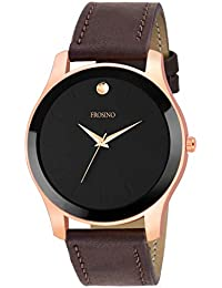 Frosino FRAC101839 Brown Strap Black dial Analog Men's Watch