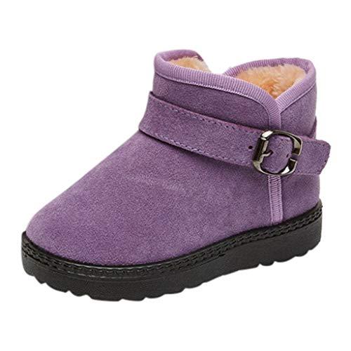 HDUFGJ Unisex Baby Stiefel Booties Plus Velvet Keep warm Winter Boots Snow Boots Kleinkind Schuhe weiche Krippe Kleinkind Schuhe Canvas Sneaker Toddler shoes26 EU(Lila)