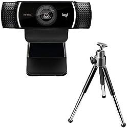 Webcam Logitech C922 Pro Stream, diffusion en Full HD 1080p avec trépied et 3 mois de licence XSplit gratuits - Noir