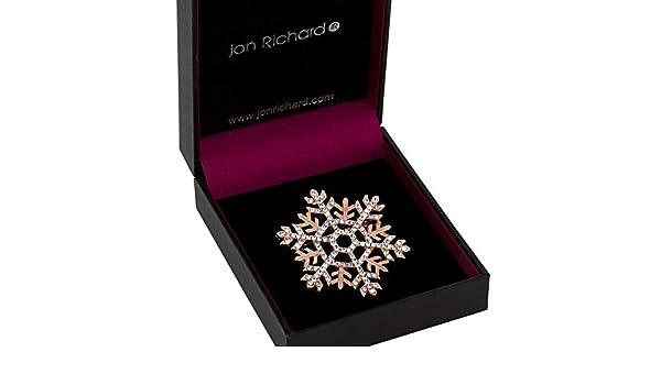 b3ad1228c76 Jon Richard Women's Rose Gold Crystal Snowflake Brooch: Amazon.co.uk:  Jewellery