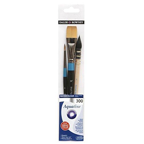 Set di 3 pennelli per acquerello - Aquafine 300 di Daler Rowney - qualità e praticità a prezzo imbattibile