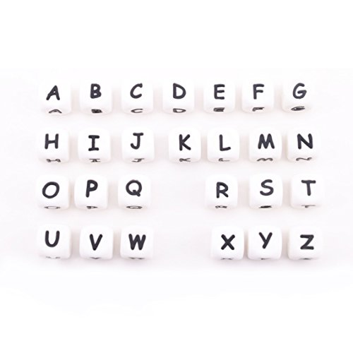 baby tete 40pc Alphabet Letter Silicone Beads Pour Baby Dentiels Collier En 26 Lettres Silicone Lettre Perles DIY Nursing Collier Jouets Silicone Beads