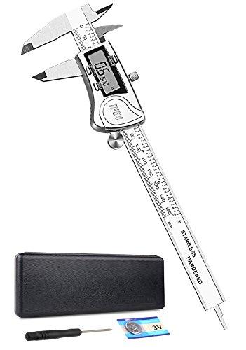 Digital Messschieber 150mm, Trehai Alle Edelstahl Elektronisch Digitaler Noniusschieber Wassergeschützter IP54 Auto Off Schieblehre mit LCD-Bildschirm und Tragetasche