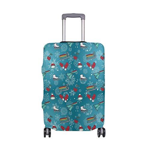 COOSUN Los productos patines trineos manoplas deportes de invierno Imprimir equipaje de viaje cubiertas protectoras lavable Spandex equipaje Maleta Cubierta - Se adapta a 18-32 pulgadas XL 29-32 en