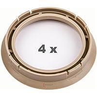4 x Zentrierringe 72.5 auf 57.1 beige