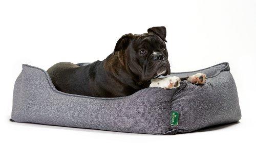 Hunter 61430 Hundesofa Boston, M, Aussenfläche – 85 x 65 x 24 cm, Innenkissen – 67 x 47 cm, grau - 3