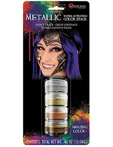 k, wasseraktiviert, professionelle Qualität, Halloween- und Kostüm-Make-up Standard metallisch ()