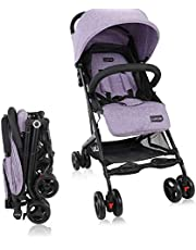 LuvLap Cruze Stroller Pram with compact Tri-fold - Purple