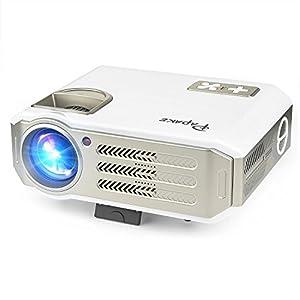 Videoprojecteur Portable LED Retroprojecteur, Projecteur Video LCD TFT (5,8 pouces )Résolution 800 X 480 1080p HD HDMI / VGA / USB / AV / Xbox TV Jeux Multimédia intérieur et extérieur Cinéma Maison