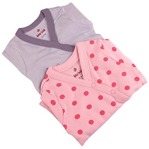 Bio Kid Designer Baby Body Suits - Thistle & Orc Pink Aop - 2 Pcs Pack (3 - 6 Months)
